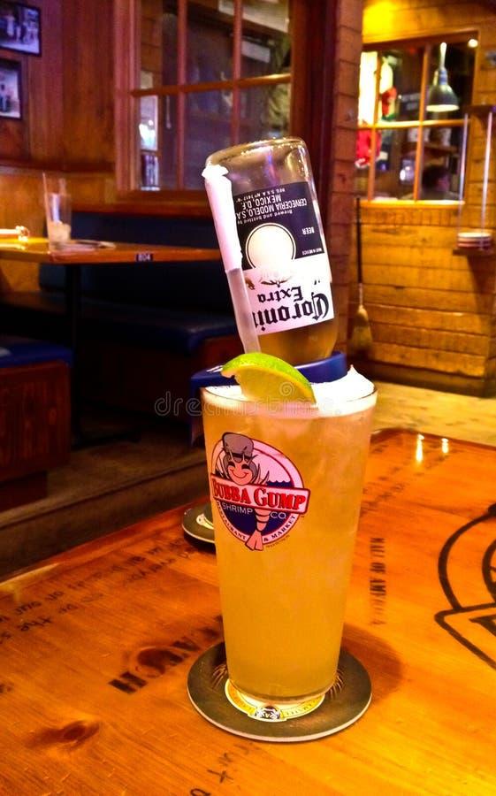 Bubba Gump special drink royaltyfri foto