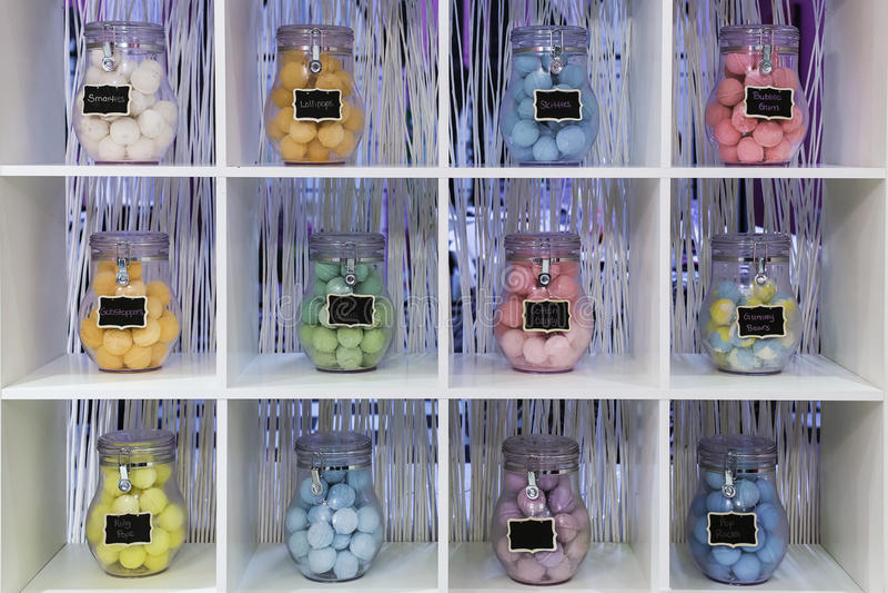Bubbelbadbollar arkivbilder