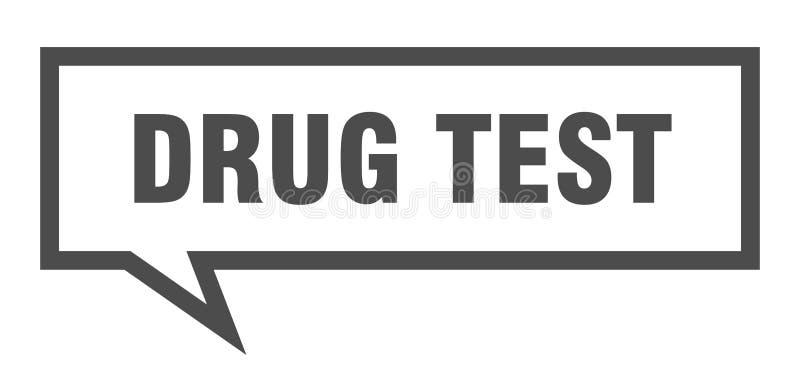 bubbla för anförande för drogprov stock illustrationer