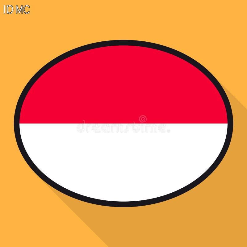 Bubbla för Indonesien Monaco flaggaanförande, social massmediakommunikation stock illustrationer