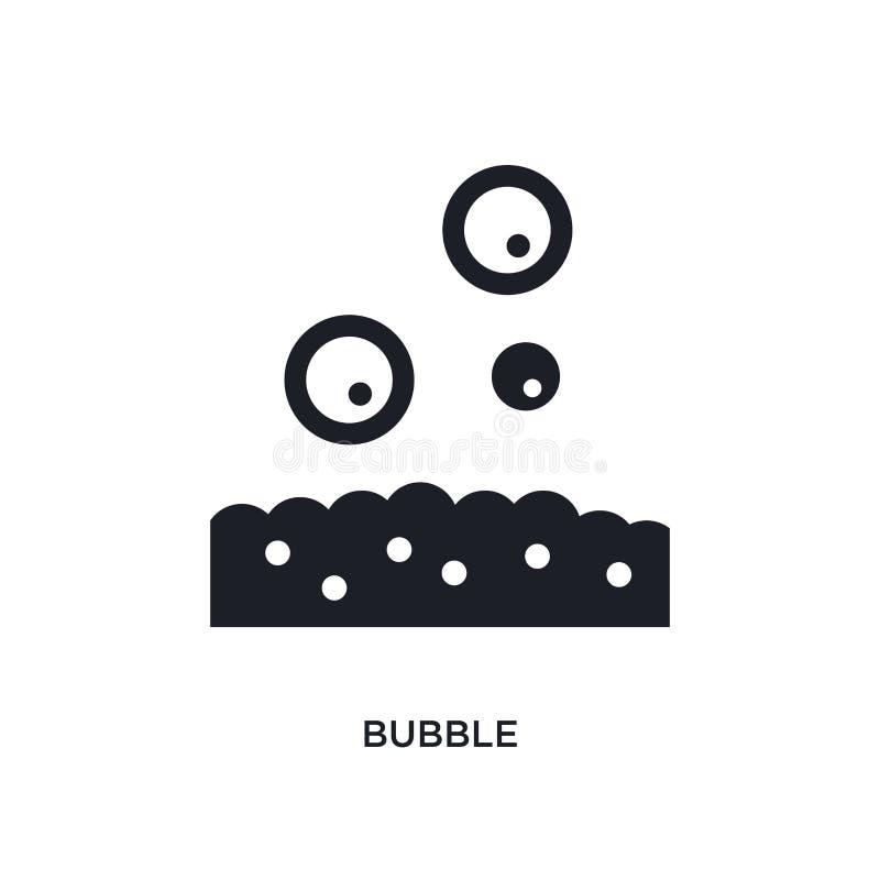 bubbla isolerad symbol enkel beståndsdelillustration från hygienbegreppssymboler för logotecken för bubbla redigerbar design för  stock illustrationer