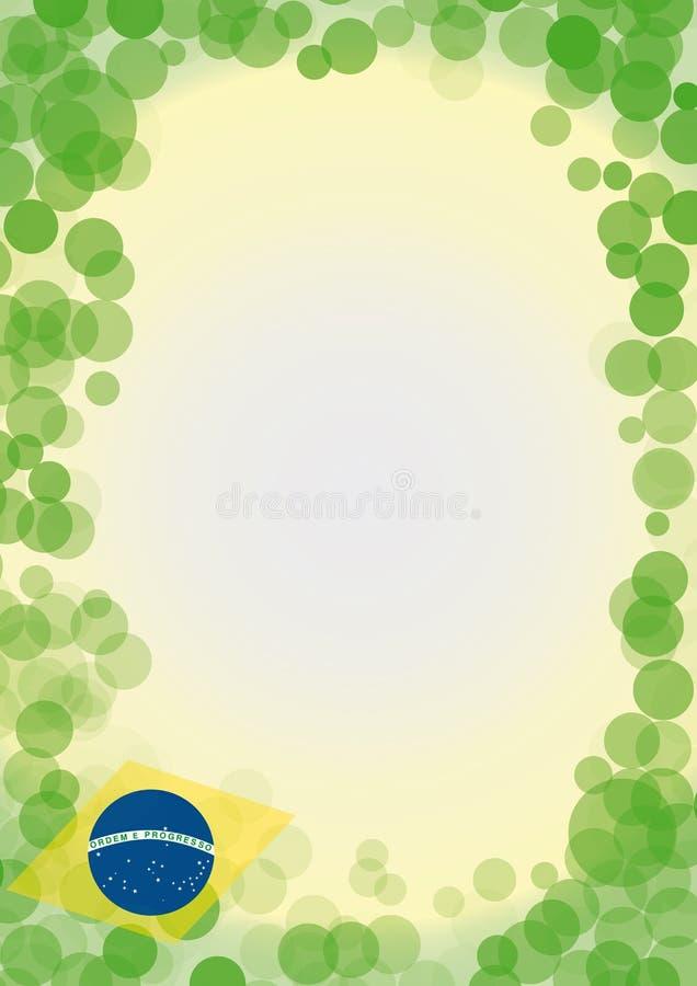 BubblaBrasilien bakgrund stock illustrationer