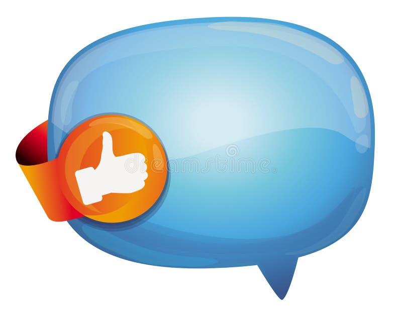 bubblan like rekommendationstecknet stock illustrationer