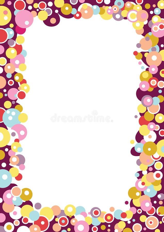 bubblaramvektor royaltyfri illustrationer