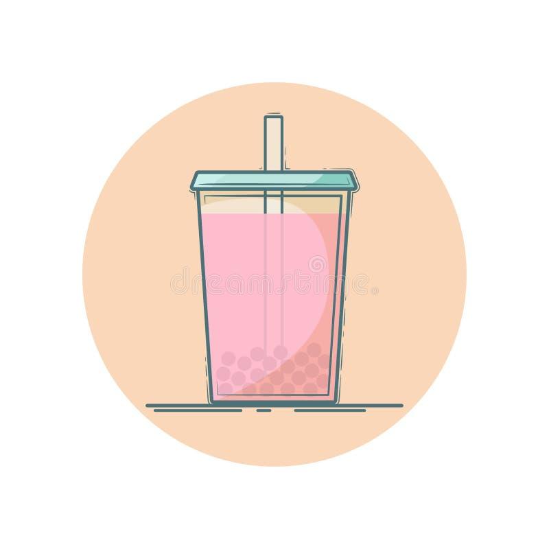 Bubblatesymbol vektor illustrationer