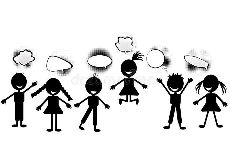bubblaungeanförande royaltyfri illustrationer