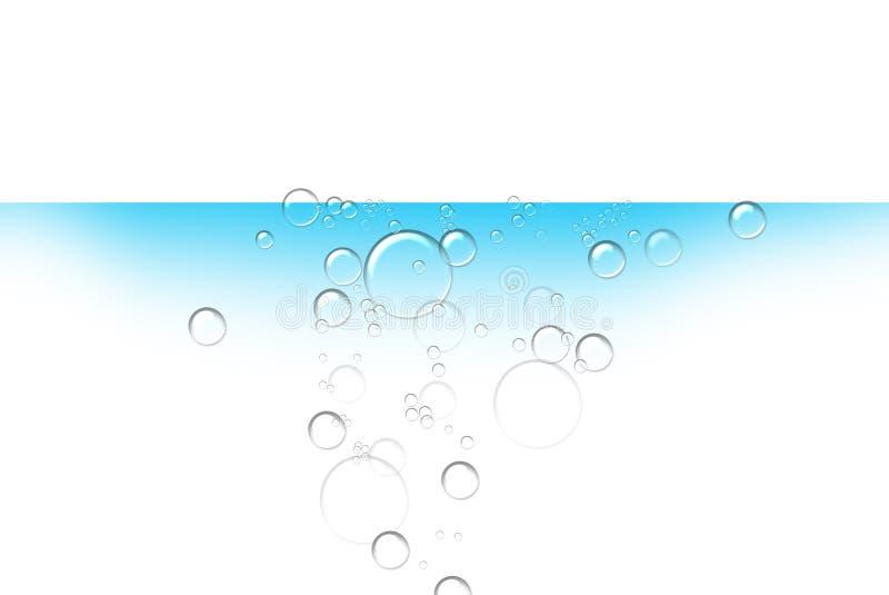 bubblavatten royaltyfri illustrationer