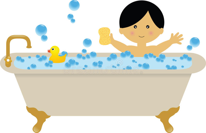 bubble bath stock illustration illustration of childhood 12265422 rh dreamstime com girl in bubble bath clipart bubble bath clipart free