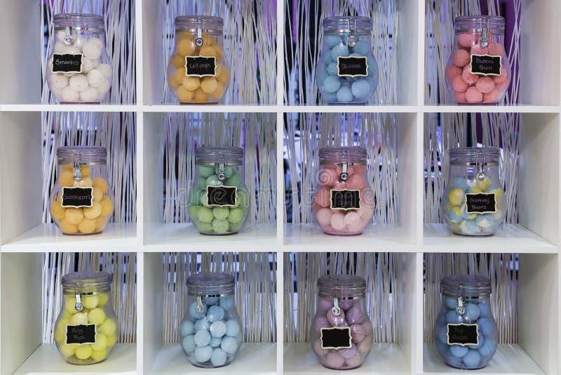 Bubble bath balls stock images