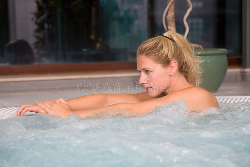 Bubble bath relaxing royalty free stock photos