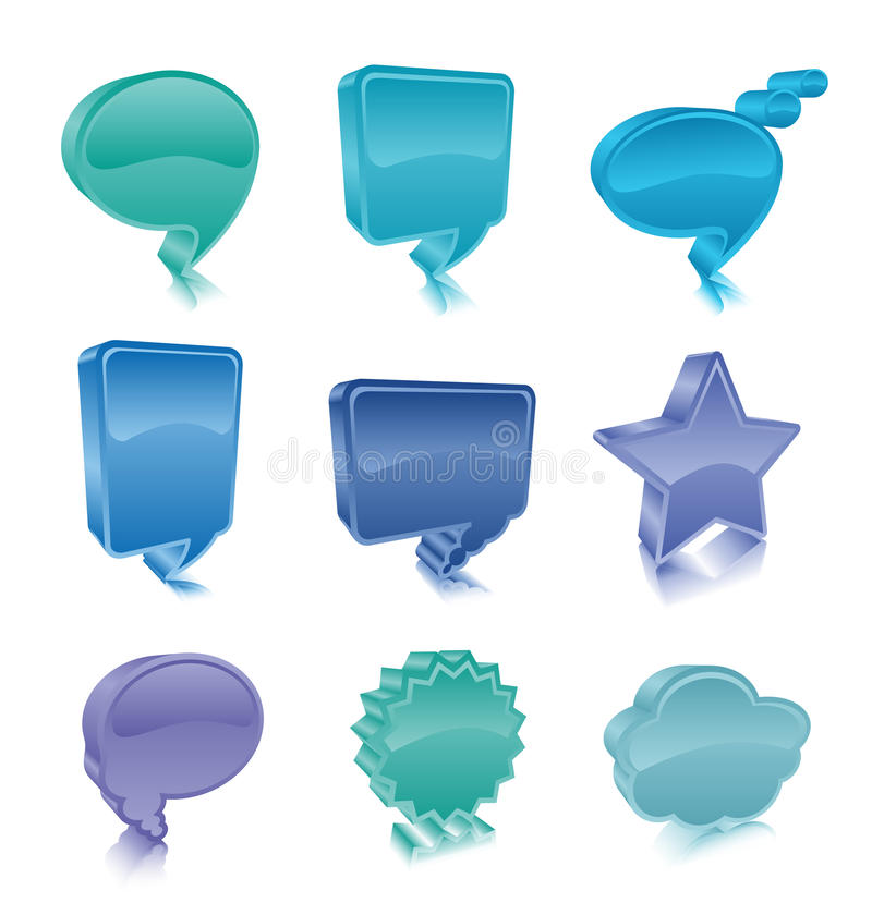 Bubble buttons. Vector illustration of bubble buttons stock illustration