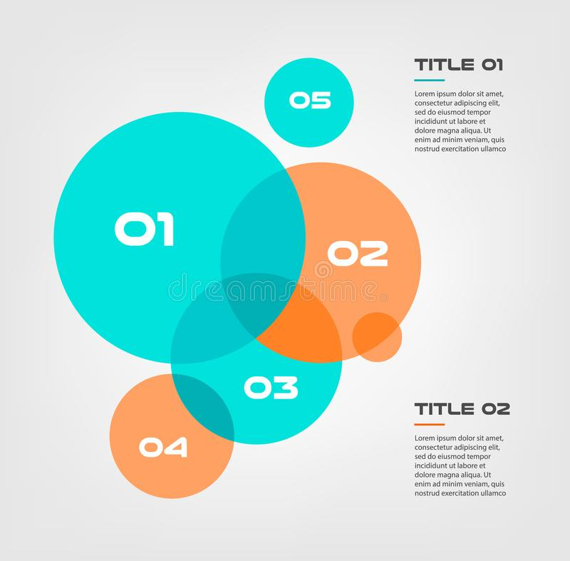 Bubble Chart With Elements Venn Diagram Infographics For Three