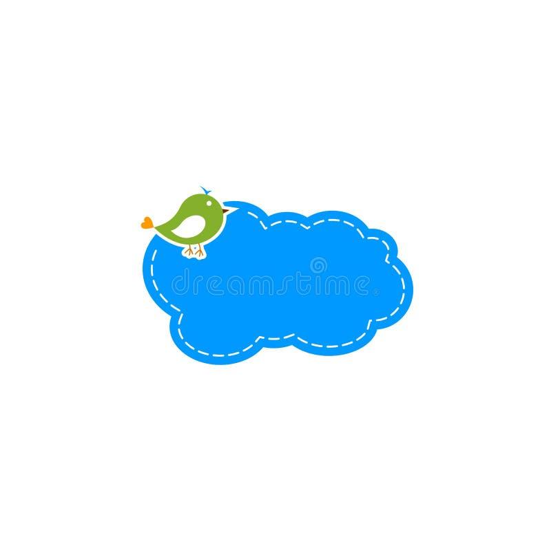 Cute bird cloud logo. royalty free illustration
