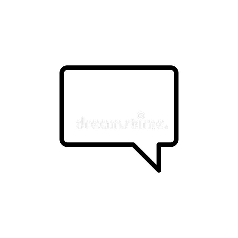 bubble, chat icon. Simple thin line, outline  of chat bubble icons for UI and UX, website or mobile application royalty free illustration