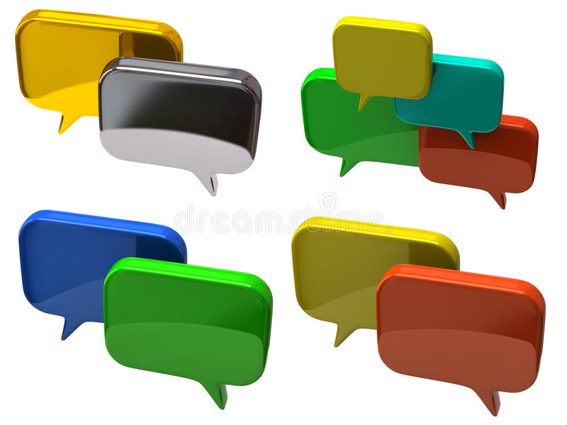 Download Bubble Chat Icons Royalty Free Stock Image - Image: 23374366