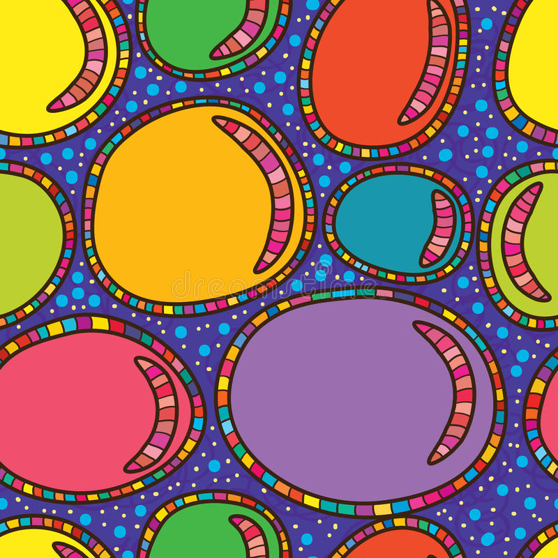 Bubble colorful abstract seamless pattern. Illustration life abstract template bubbles colors seamless pattern texture background drawing vector illustration