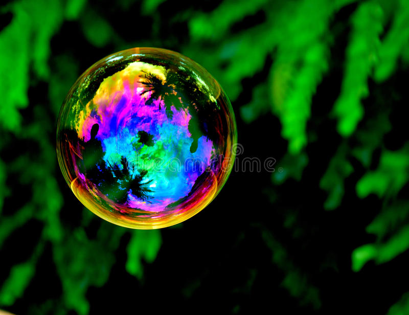 Bubble in the air stock images
