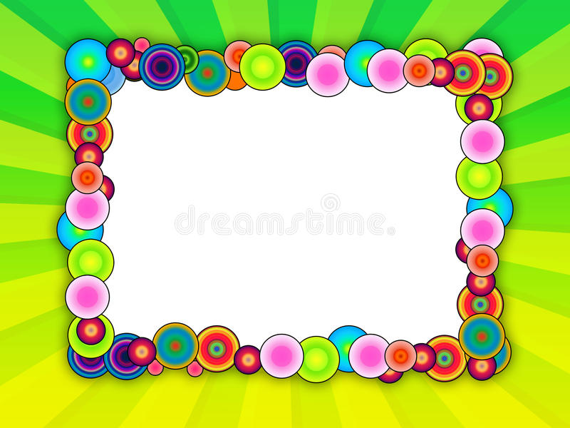 Bubble Frame on Bright Green Background royalty free illustration