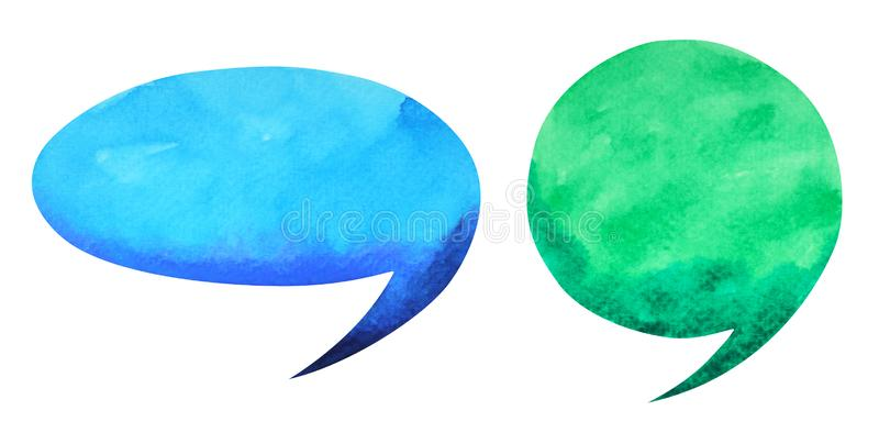 Bubble free speaking watercolor painting illustration design royalty free illustration