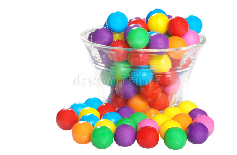 Bubble gum in a bowl stock photos