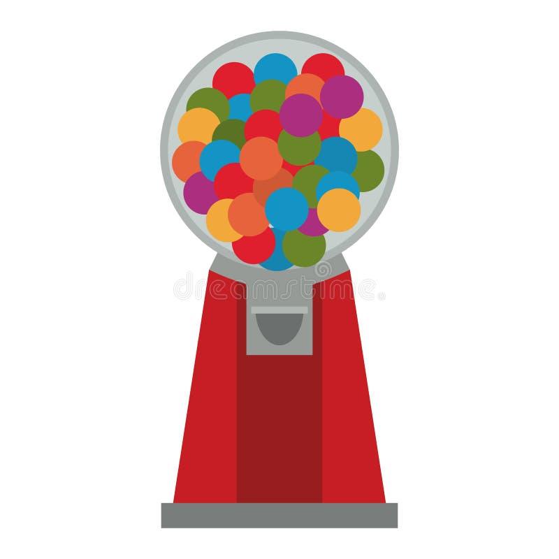 Bubble gum dispenser. Isolated vector illustration graphic design vector illustration