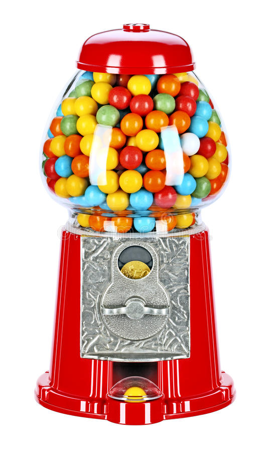 Bubble gum machine royalty free stock images