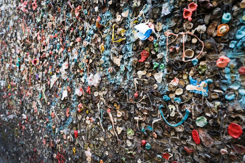 Bubble Gum on Wall. Bubble gum alley wall of bubble gum royalty free stock image