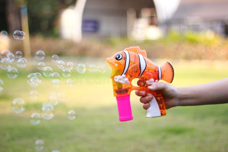 Bubble gun stock photos