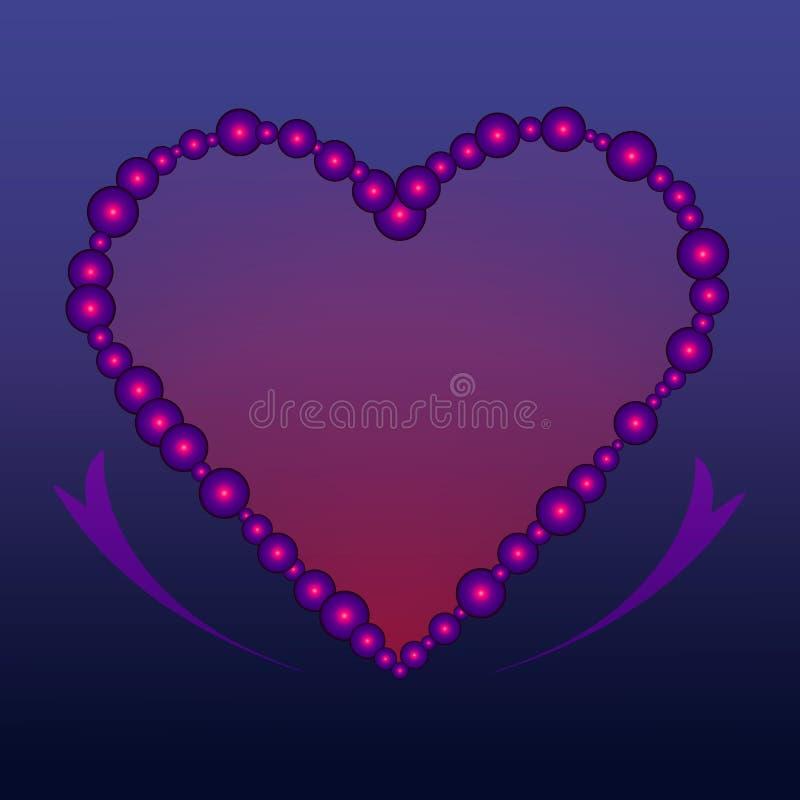 Bubble heart. Heart shape made of small bubbles stock illustration