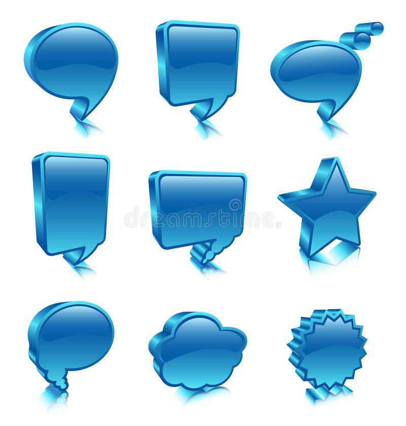 Bubble icons royalty free illustration