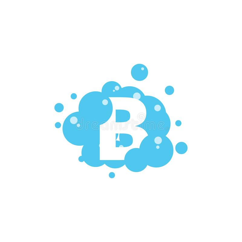 Bubble with initial letter b graphic design template stock illustration
