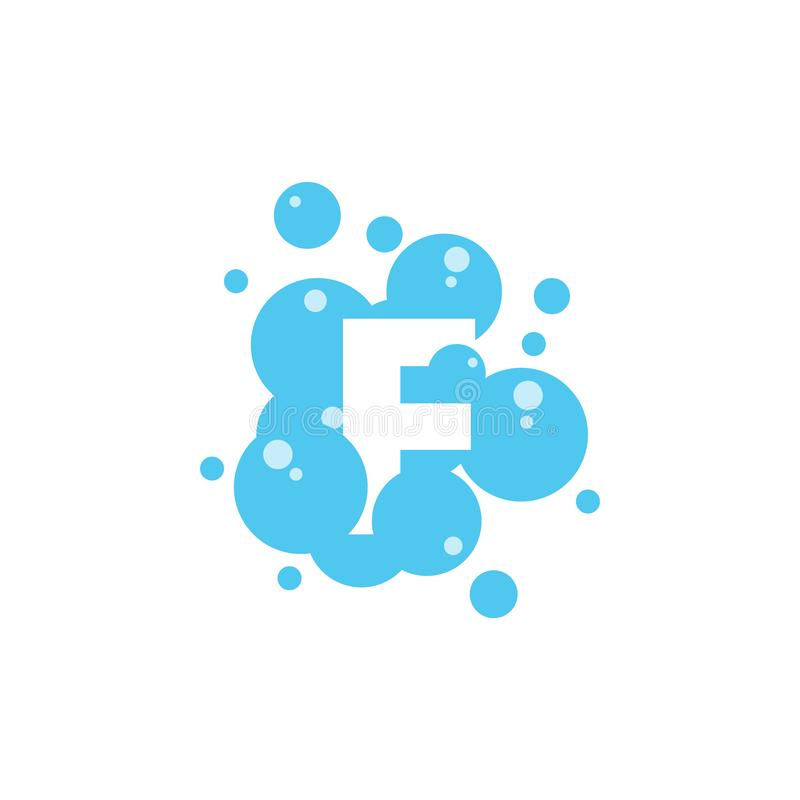 Bubble with initial letter f graphic design template vector illustration