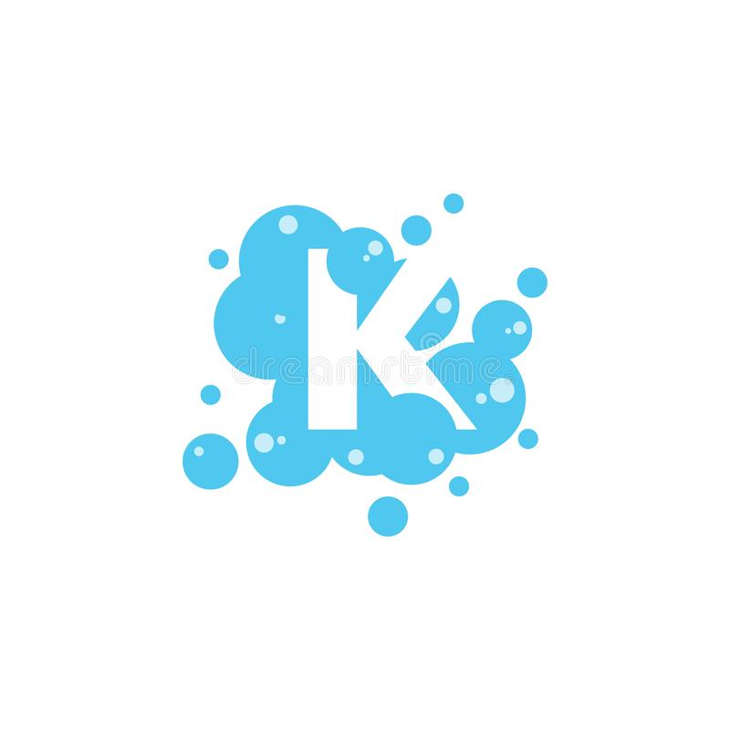 Bubble with initial letter k graphic design template vector illustration