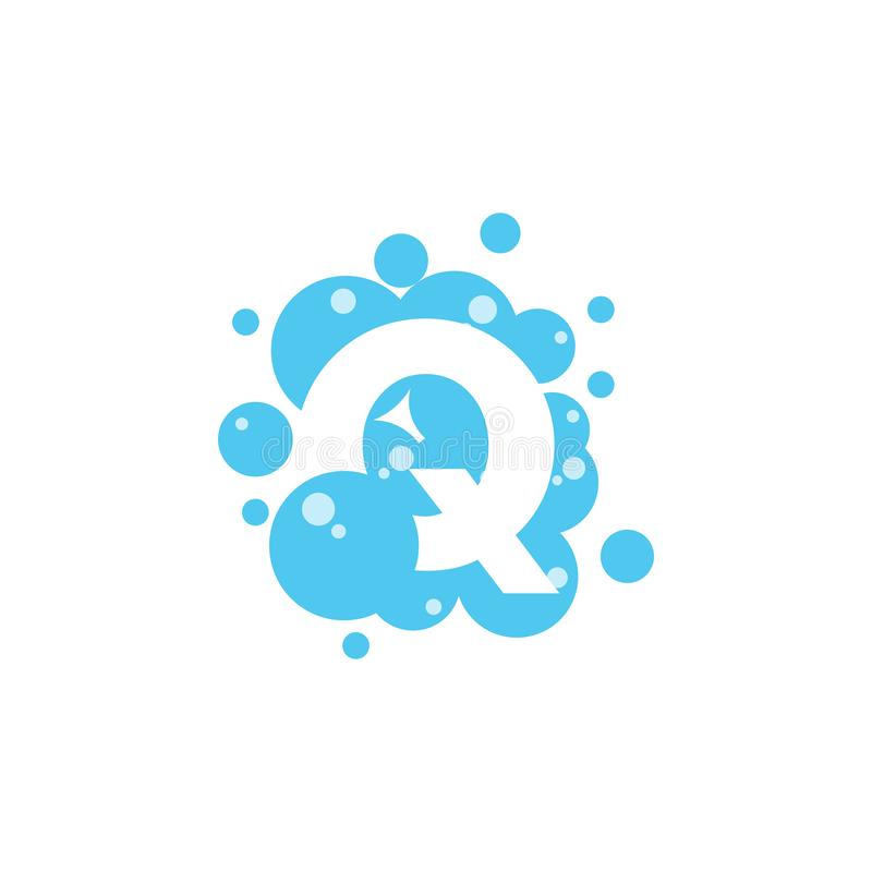 Bubble with initial letter q graphic design template vector illustration