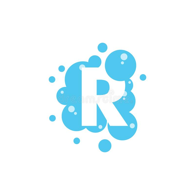 Bubble with initial letter r graphic design template stock illustration