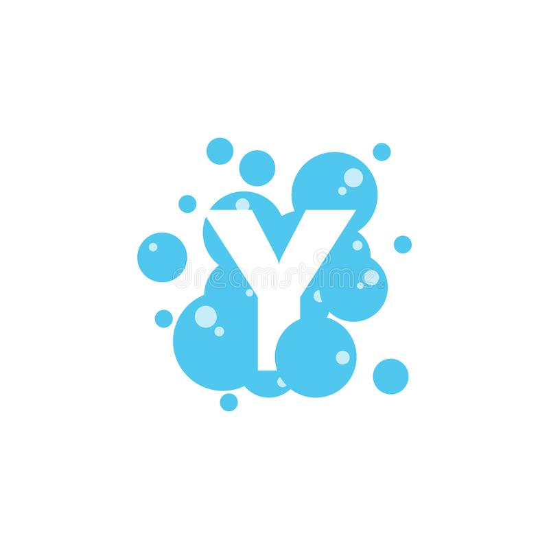 Bubble with initial letter y graphic design template vector illustration