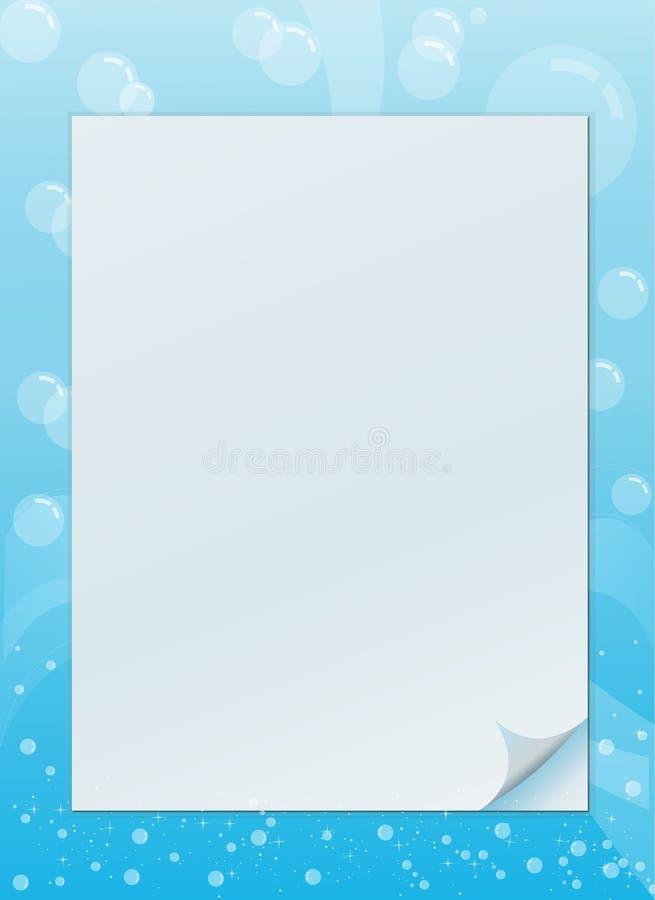 Bubble invitation frame vector illustration