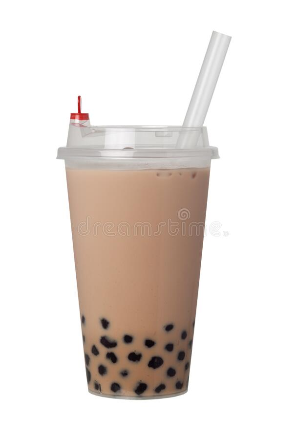 Bubble milk tea with pearls royalty free stock photos