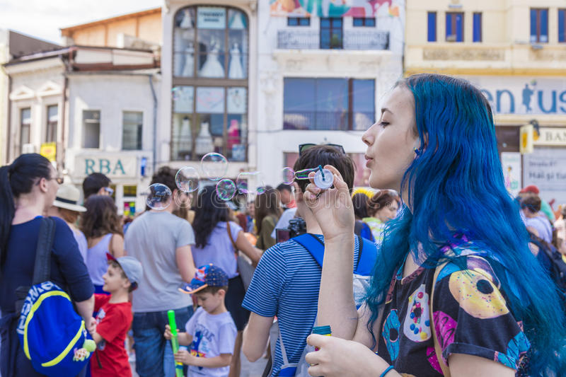 The Bubble Parade 2015 stock images