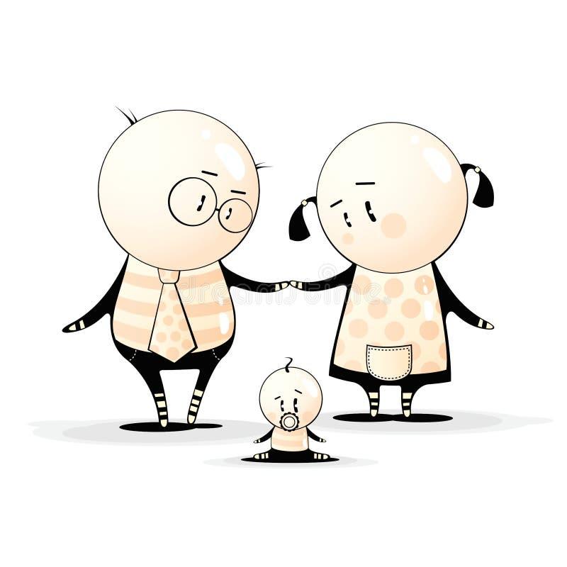 Bubble's Family royalty free illustration