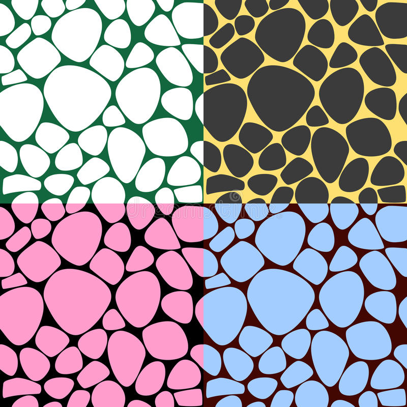 Bubble seamless pattern set, abstract background royalty free stock photos