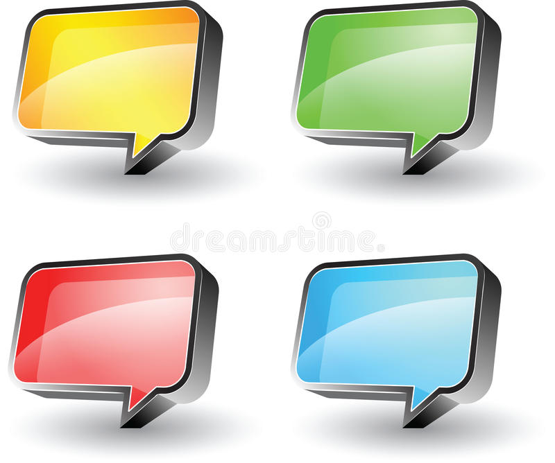 Download Bubble speech stock vector. Image of communication, abstract - 14339553