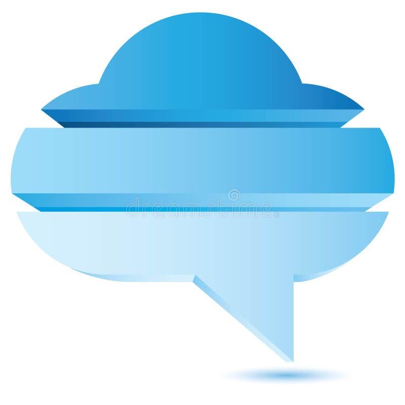 Bubble speech diagram, cloud. Bubble speech diagram for process template use stock illustration