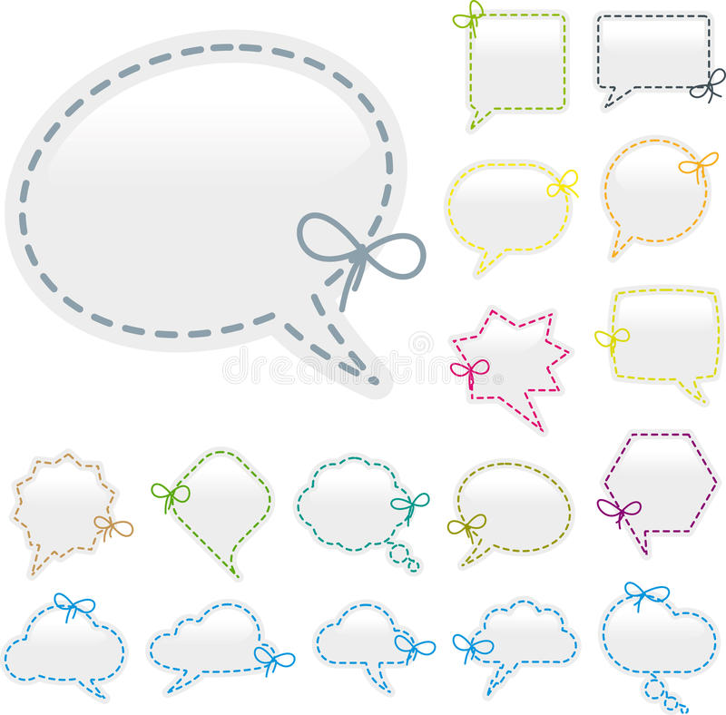 Bubble speech sewing royalty free illustration