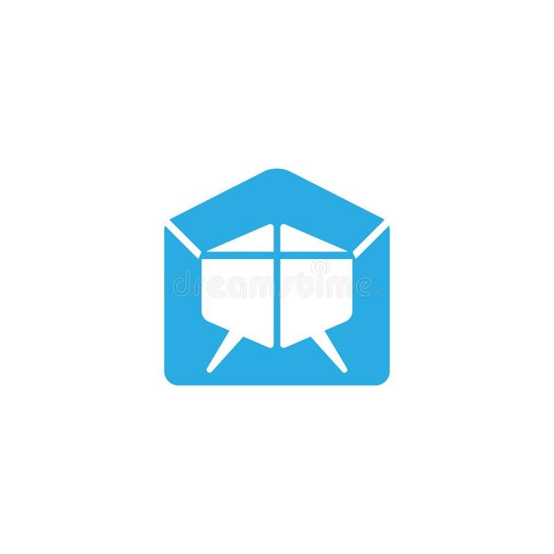 Bubble talk email envelope symbol vector vector illustration