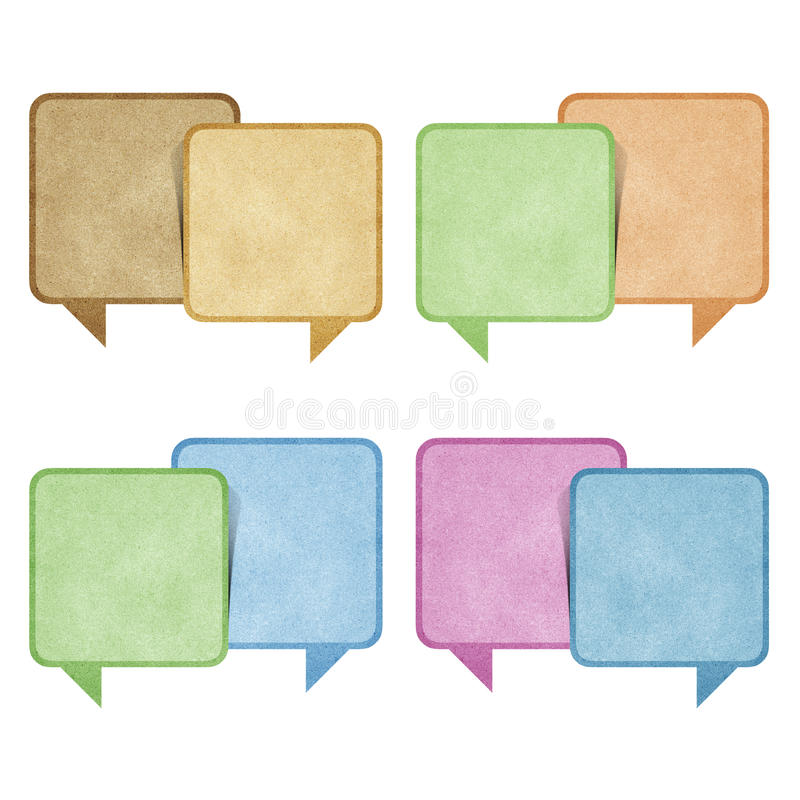 Download Bubble Talk Tag Recycled Paper Craft Stock Illustration - Image: 20723160