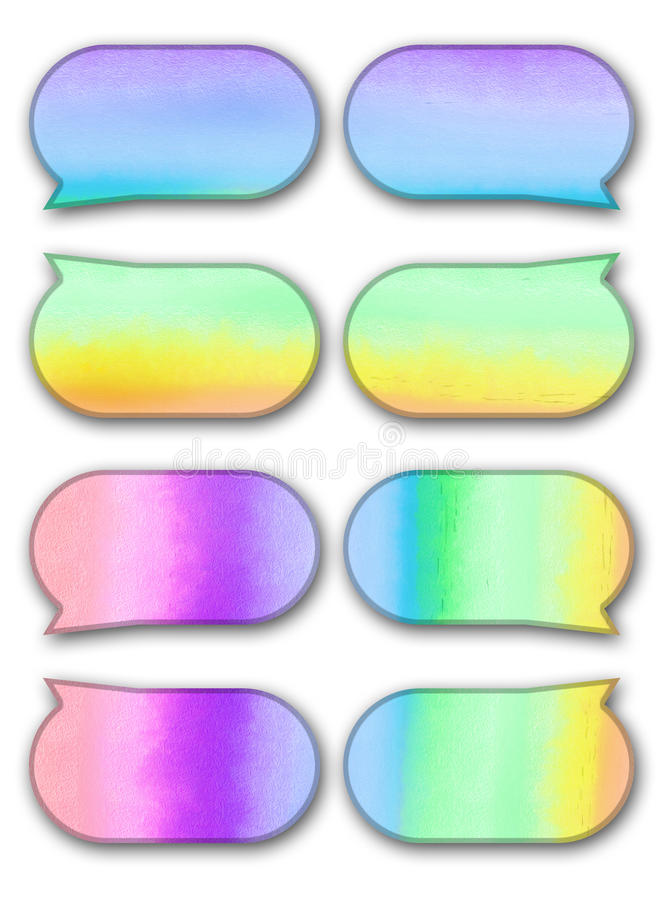 Download Bubble Talk Tag Watercolor On White Background Stock Illustration - Image: 21690387