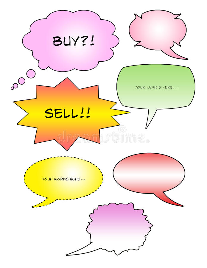 Download Bubble text stock illustration. Image of concept, comic - 11533599