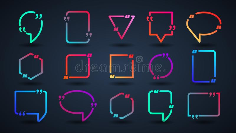 Bubble with the text and quote. vector illustration