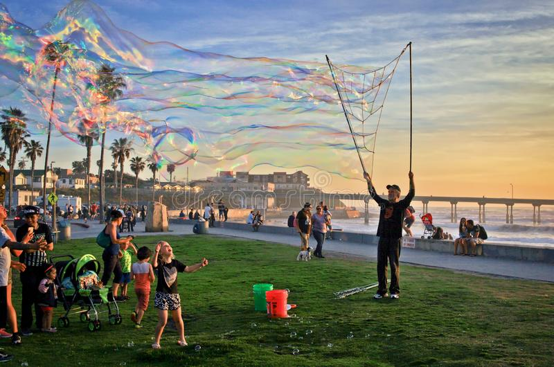 Bubble time at Ocean Beach, San Diego, California, USA royalty free stock images